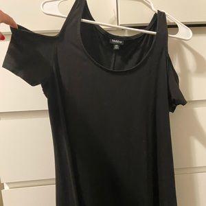 Off shoulder, cut shoulder torrid black dress